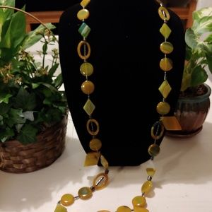 Handmade cut and polished stone necklace